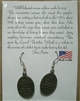 Pewter Earrings: Well behaved women rarely make history