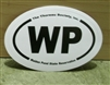 WP Walden Pond oval bumper sticker (Small)