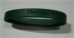 """Thoreau Society"": Green Silicon Wristband from The Thoreau Society Shop at Walden Pond"