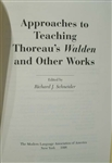 "Approaches to Teaching Thoreau's ""Walden"" and Other Works,  Richard J. Schneider"