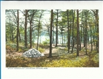 Classic Walden Pond Cairn Note Card - Fred Popper
