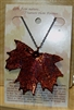 Copper Sugar Maple Leaf Necklace