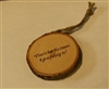 """Time is but the stream I go a-fishing in"" Hand-Burned Wood Ornament"