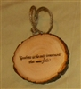 """Goodness in the only investment"" Hand-Burned Wood Ornament"