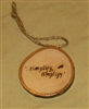 """Simplify, simplify"" Hand-Burned Wood Ornament"