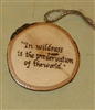 """In wildness is the preservation of the world"" Hand-Burned Wood Ornament"