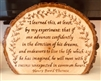 """Advance Confidently"" Hand-Burned Wood Shelf-Sitter"