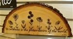 """In Wildness is the preservation of the world"" Hand-Burned Wood Shelf-Sitter"