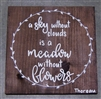 """A Sky Without Clouds"" Thoreau Quote on Hand-Painted Wood Sign - Breezy Knoll Boards"