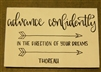 """Advance Confidently"" Thoreau Quote on Hand-Painted Wood Sign - Breezy Knoll Boards"