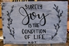 """Surely joy"" Thoreau Quote on Hand-Painted Wood Sign - Breezy Knoll Boards"