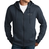 Walden Pond Minnow Full-Zip Solid Color Hoodie Sweatshirt