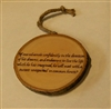 """If One Advances Confidently"" Hand-Burned Wood Ornament"