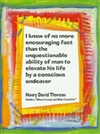 "Heartful Art Medium Poster - Thoreau Quote: ""I know of no more encouraging fact"""