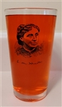 Pint Glass with Louisa May Alcott Portrait