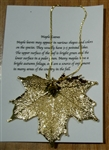 Gold Maple Leaf Necklace