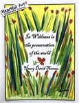 "Heartful Art Medium Poster - Thoreau Quote: ""In wildness is the preservation of the world"""
