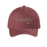 """Simplify"" Hat or Ball Cap"
