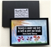 "Heartful Art Magnet - Thoreau Quote: ""Heaven is under our feet as well as over our heads"""
