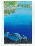 Walden Pond Meditation Note Card - Tamara Major