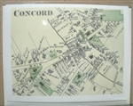 Concord 1875 Map notecards