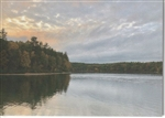 Walden Pond on Cloudy Autumn Day Note Card - Sweet T