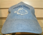 Walden Pond Fish Hat or Ball Cap - Denim