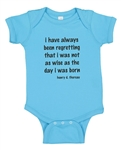 Infant Onesie (blue) with Thoreau Quote