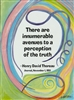 "Heartful Art Small Poster - Thoreau Quote: ""There are innumerable avenues to a perception of the truth"""
