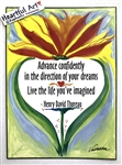 "Heartful Art Poster - Thoreau Quote: ""Advance confidently in the direction of your dreams"""
