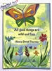 "Heartful Art Poster - Thoreau Quote: ""All good things are wild and free"""