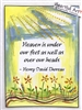 "Heartful Art Small Poster - Thoreau Quote: ""Heaven is under our feet as well as over our heads"""