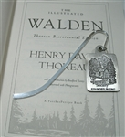 Pewter Bookmark with The Thoreau Society Cabin Logo