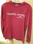 """Simplify, Simplify"" Long-sleeved Shirt with Thoreau Quote"