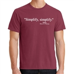 """Simplify, Simplify"" T-shirt with Thoreau Quote"