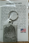 Pewter Key Chain with The Thoreau Society Cabin Logo
