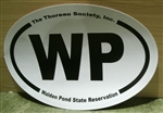 WP Walden Pond oval bumper sticker (Large)