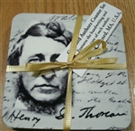 Concord Authors Coaster Set (cork-backed)