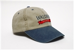 Walden Pond Bar Hat or Ball Cap -  Khaki/navy with red bar