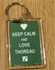 """Keep Calm and Love Thoreau"" Lucite Key Chain with Thoreau Portrait"