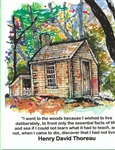 "Walden House ""I went to the woods"" Note Card - Marianne Orlando"