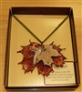 Double Sugar Maple Leaf Necklace