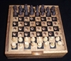 Wood Travel Chess Set with Thoreau Society Logo