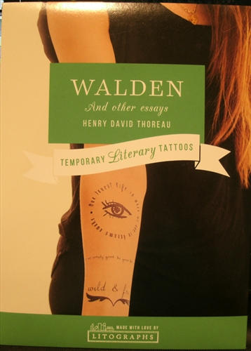 Temporary Literary Tattoos Walden And Other Essays  Henry David  Temporary Literary Tattoos Walden And Other Essays  Henry David Thoreau