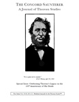 The Concord Saunterer: A Journal of Thoreau Studies, New Series, Volumes 19/20 (2011-2012)