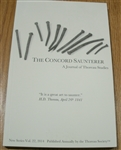 The Concord Saunterer: A Journal of Thoreau Studies, New Series Volume 22 (2014)