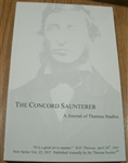 The Concord Saunterer: A Journal of Thoreau Studies, New Series Volume 25 (2017)