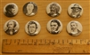 Set of 8 Literary Buttons